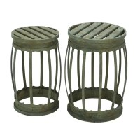 Shop 18-inch Metal Stool (Set of 2) - Free Shipping Today ...