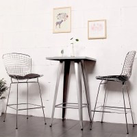 Shop Mod Made Mid Century Modern Chrome Wire Barstool with ...