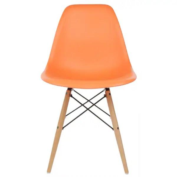 eiffel chair wood legs leather oversized shop handmade retro molded plastic orange dining china