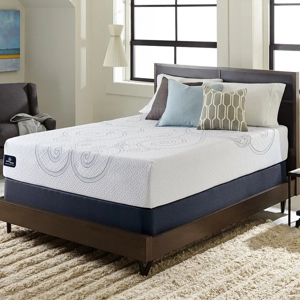 memory foam mattress serta perfect sleeper isolation elite 12 inch split queen size gel - Queen Size Memory Foam Mattress