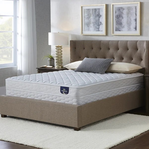 Serta Chrome Firm Full Size Mattress Set
