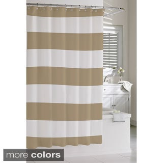 Blue Stripe Shower Curtains Overstock Com Vibrant Fabric Bath