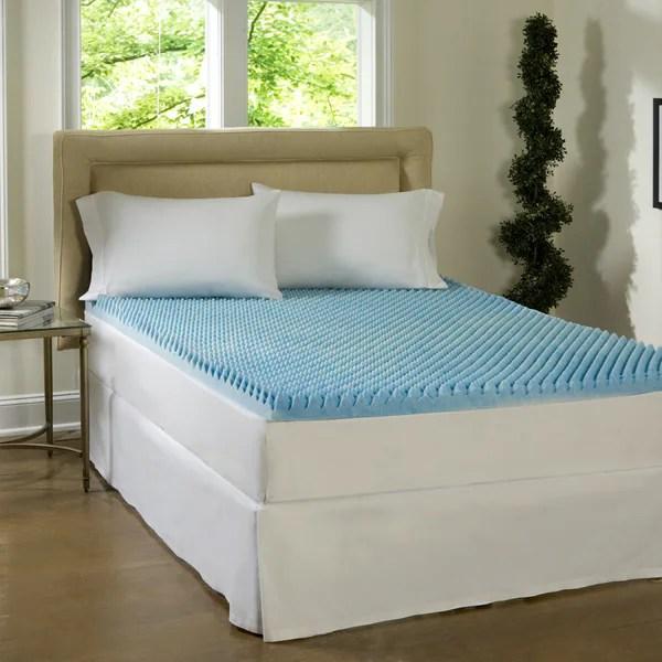 Comforpedic Loft From Beautyrest Dorm 4 Inch Textured Gel Memory Foam Mattress Topper