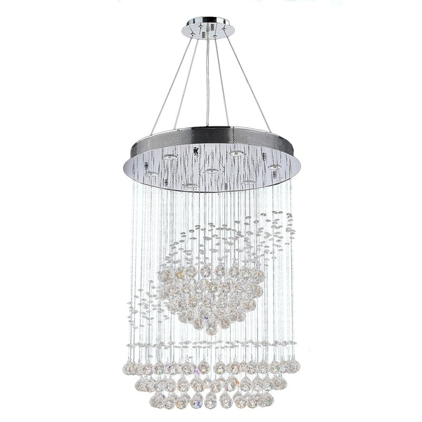 Shop Saturn Collection 7-light Chrome Finish Clear Crystal
