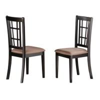 Nicoli Black/ Cherry Kitchen Chair (Set of 2) - 17292076 ...