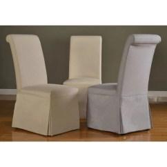 Grey Parson Chair Slipcovers Orange Salon Newport Beach Ca Shop Domusindo Slipcovered Roll Back Dining Set Of 2 Free