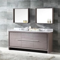 Shop Fresca Allier 72-inch Grey Oak Modern Double Sink ...