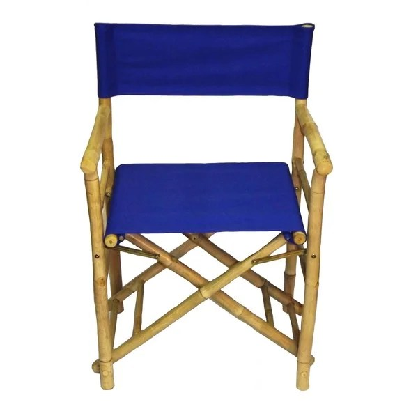 bamboo directors chairs slipcovers for bar shop handmade set of 2 director s with blue canvas x27 vietnam