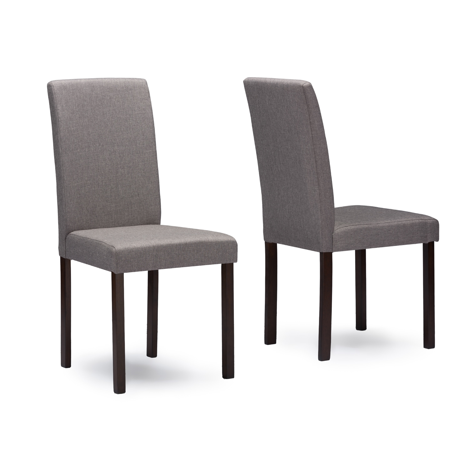 Grey Wood Dining Chairs Shop Andrew Grey Fabric Upholstered Solid Wood Dining