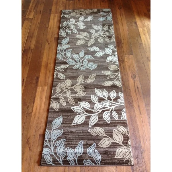 Shop Grey Blue Brown Floral Contemporary Area Rug Free Shipping Today 10181328