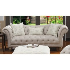 Tufted Button Sofa How To Clean My Set Shop Hutton Off White Linen Look On Sale Free Shipping Today Overstock Com 10181863