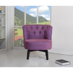 Purple Swivel Chair Brown Leather Office Chairs Shop Raleigh Free Shipping Today Overstock