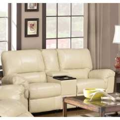 Lane Sofa With Fold Down Table Small Convertible Furniture Of America Barbz 2-piece Bonded Leather Recliner ...