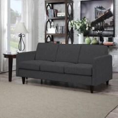 Serta Bonded Leather Convertible Sofa Material For Dog Hair Rta Santa Rosa Collection 77-inch Black ...