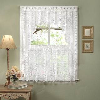 elegant kitchen curtains valances towels buy curtain tiers online at overstock com our best window white lace luxurious old world style shade or