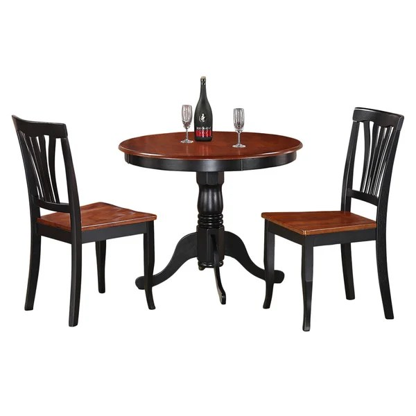 2 chair dining set cover rentals waco shop 3 piece kitchen nook small table and chairs