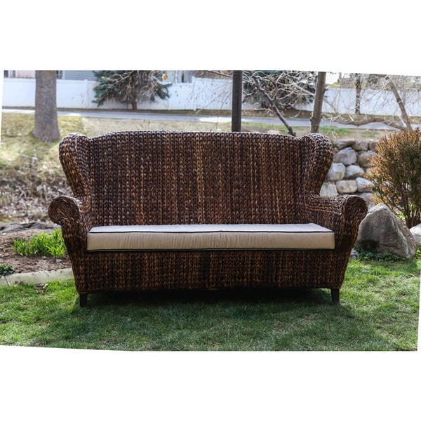 Rattan Sofa Philippines [handmade] Somette Rattan Indoor/ Outdoor Rolled Arm 3