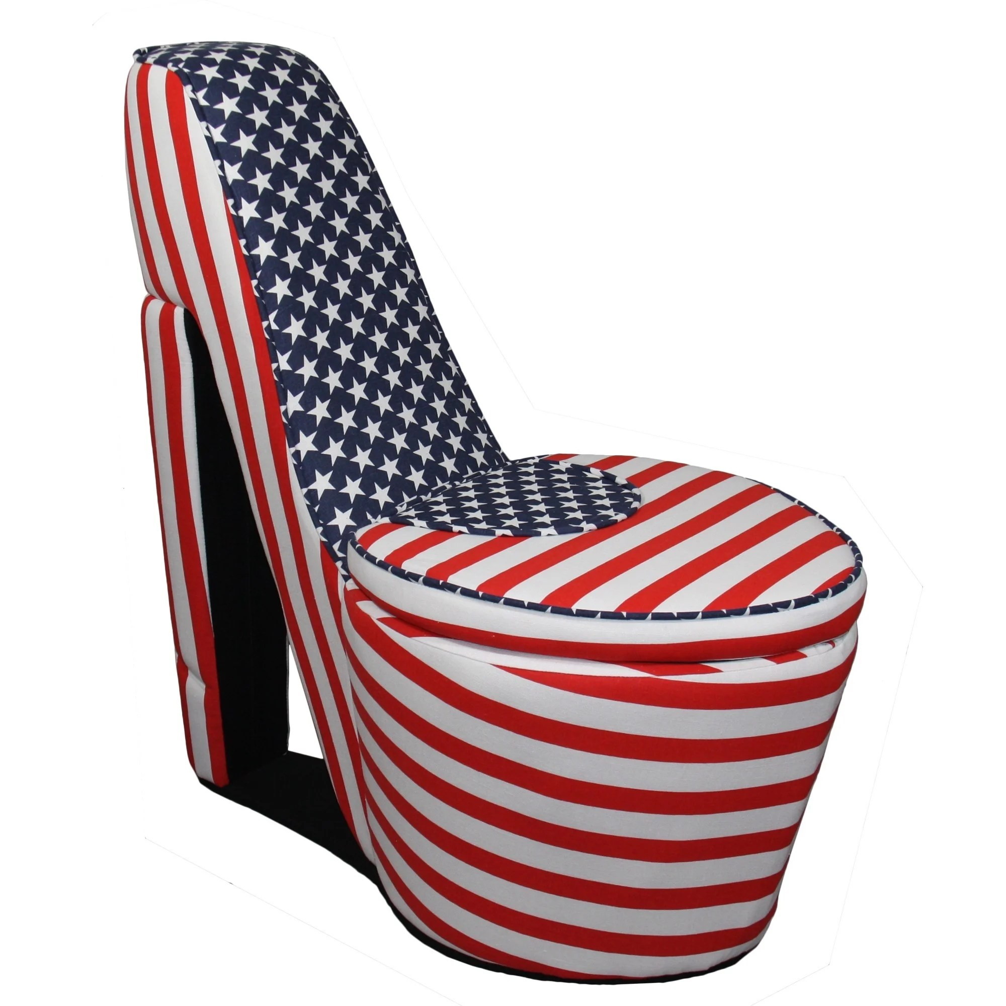 american flag chair nail salon chairs pink high heels storage ebay