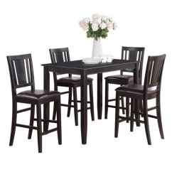 High Table And Chairs For Kitchen Svan Baby To Booster Chair Shop Black Counter Height 4 5 Piece Dining Set