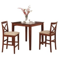 Pub Table And Chairs 3 Piece Set 2 Folding Outdoor Shop Dark Brown Stools Dining Free Shipping Today Overstock Com 10201091