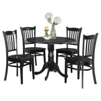 Shop Table and 4 Kitchen Chairs 5-piece Dining Set - Free ...
