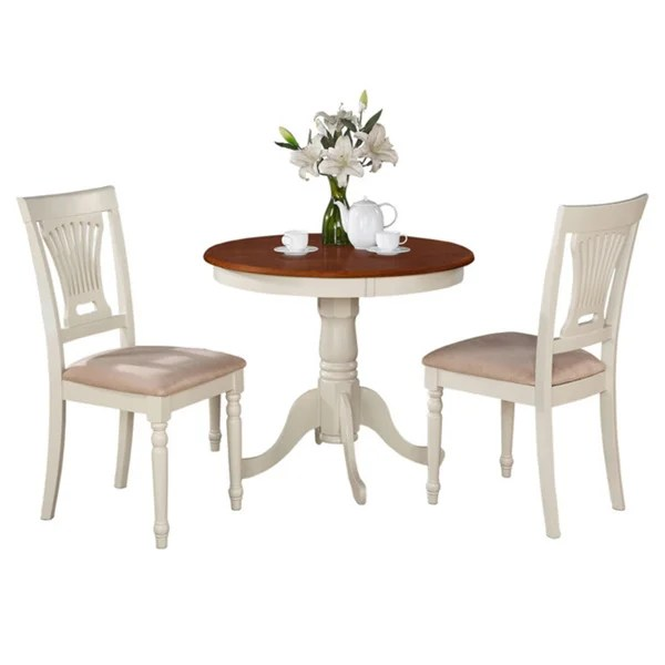 two chair dining table room covers grey shop buttermilk and cherry round 3 piece set