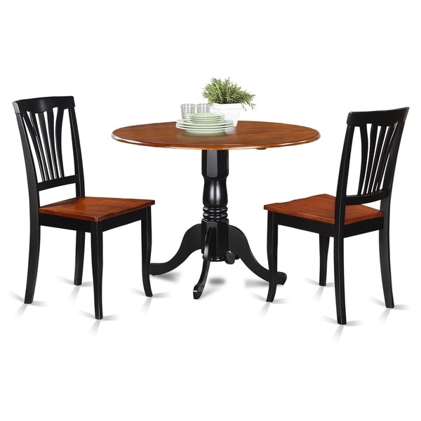 Shop Black And Cherry Kitchen Table And 2 Kitchen Chairs
