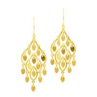 Shop 14k Yellow Gold Fancy Chandelier Dangle Earring ...