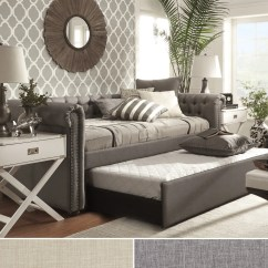 Tribecca Home Knightsbridge Beige Linen Tufted Scroll Arm Chesterfield Sofa Com Us Site 1cheap