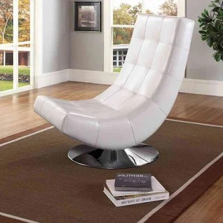 contemporary white leather living room chairs modern decorating ideas buy high back online at overstock com baxton studio massey pu upholstered and grid tufted accent chair with chromed plate