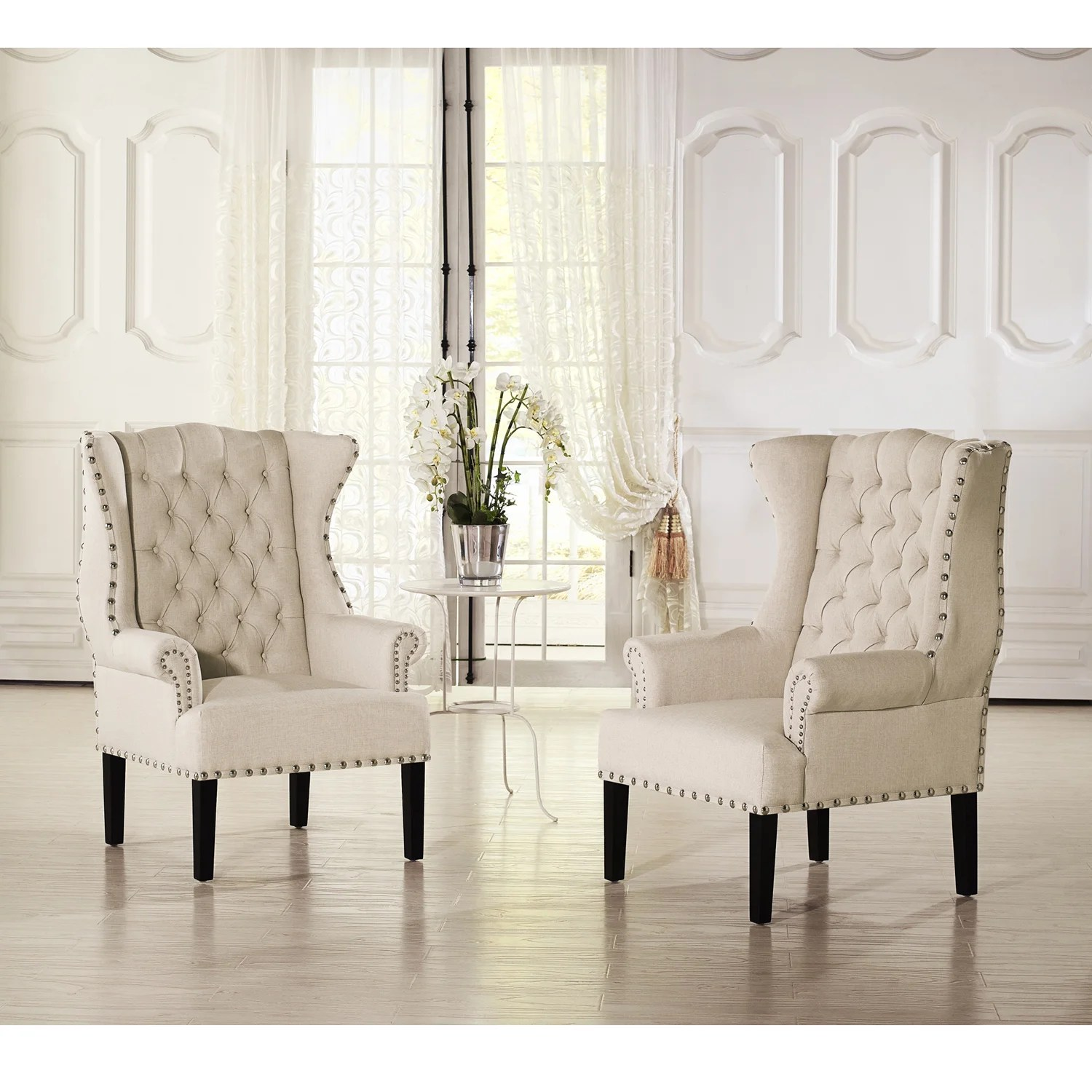 Burlap Chairs Baxton Studio Patterson Beige Linen And Burlap Upholstered