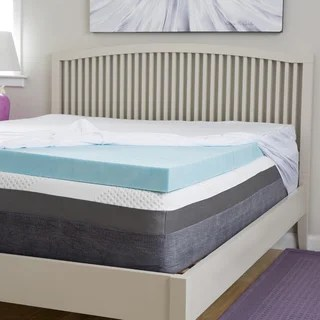 Slumber Perfect 4 Inch Gel Memory Foam Topper With Egyptian Cotton Cover