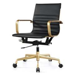 Office Chair On Sale Leather Reading Shop M348 Black Vegan And Gold Free