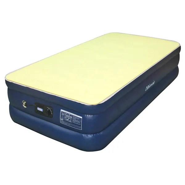 Shop Airtek Twinsize Flocked Top Air Mattress with Memory Foam Mattress Topper  Free Shipping