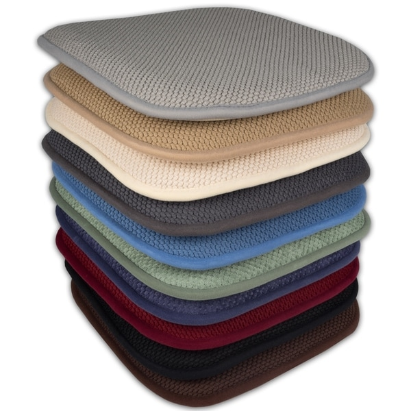 chair pad foam ergonomic images shop 16x16 memory seat cushion with non slip backing 2 or