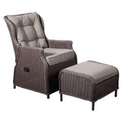 Wicker Recliner Chair The Easy Mount Shop Cobana All Weather Resin Rattan With Ottoman
