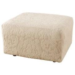 Sure Fit Stretch Stripe 2 Piece T Cushion Sofa Slipcover Victorian Set Designs Jacquard Damask Ottoman ...