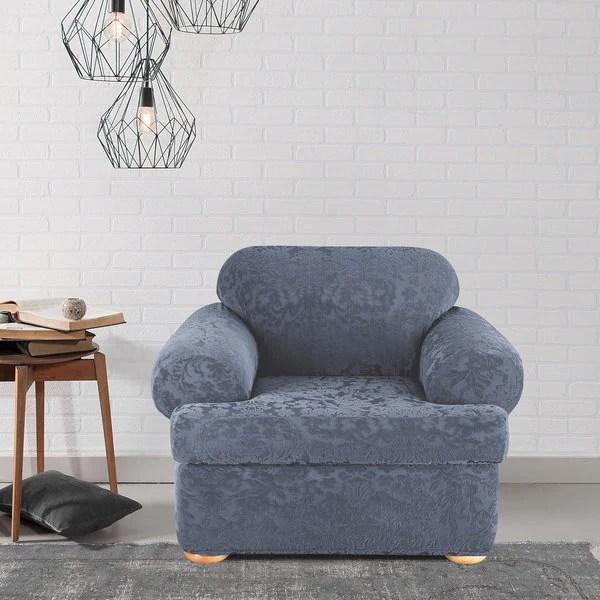 Shop Sure Fit Stretch Jacquard Damask Twopiece T Cushion