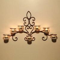 Shop Adeco Iron and Glass Horizontal Wall-hanging 7-light ...