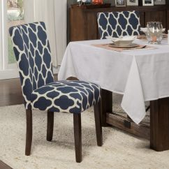 Navy Blue Dining Chairs Set Of 2 Folding Chair Beds Foam Shop Homepop Classic Parsons Geo Brights