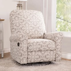 Chair And A Half Glider Recliner Reading World Market Shop Abbyson Perth Grey Floral Fabric Swivel