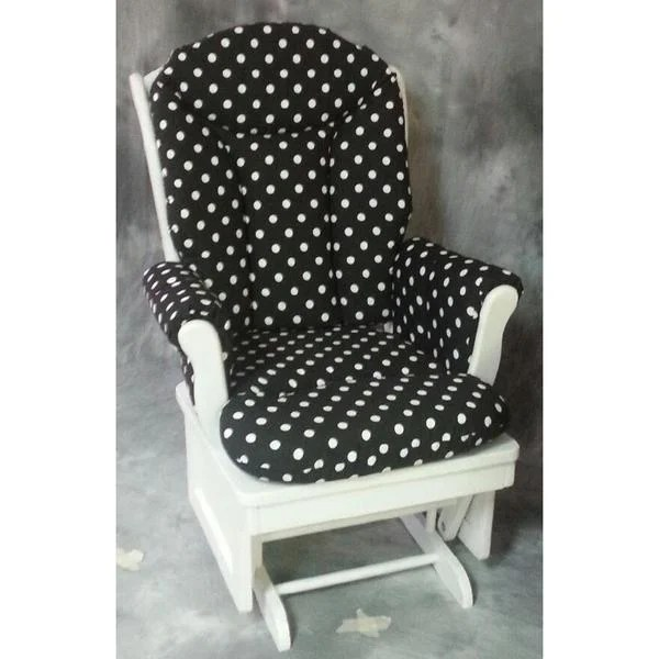 polka dot rocking chair cushions cheap outdoor shop glider white dots free shipping today overstock com 10299529