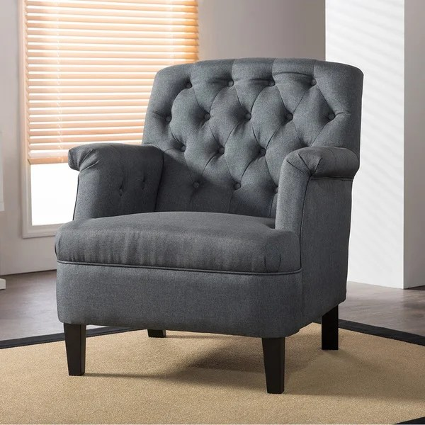 overstock arm chair sealy posturepedic shop jester classic retro modern contemporary grey fabric upholstered button-tufted armchair ...