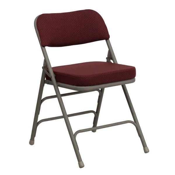 cushioned folding chairs chair for elderly shop heather burgundy seat free shipping