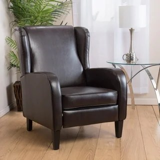darvis leather recliner club chair brown christopher knight home set of 6 dining room chairs stratton by - free shipping today overstock 16291679