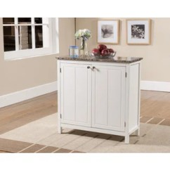 Wheeled Kitchen Island Mats Gel Buy Portable Islands Online At Overstock Com Our Best Porch Den Izard White And Faux Marble Cabinet