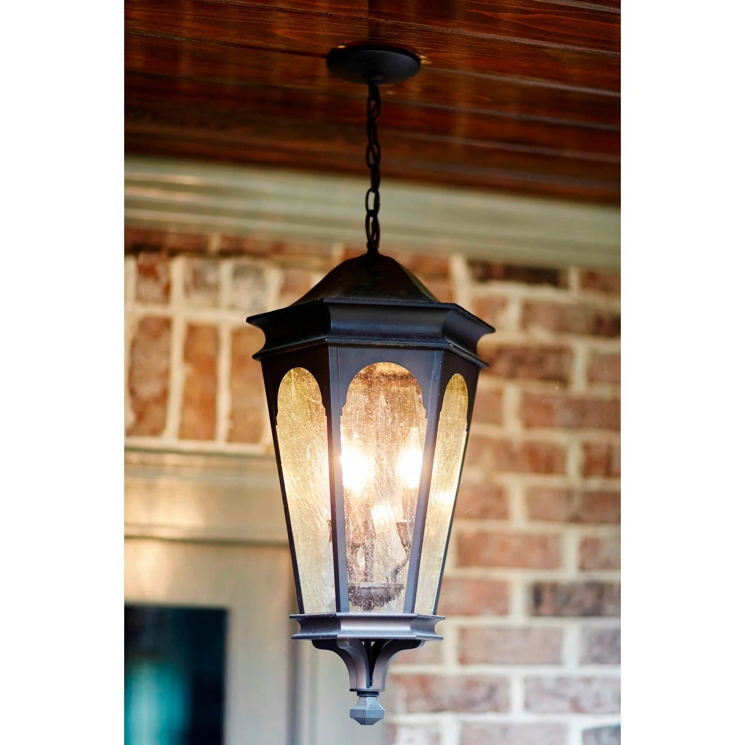 Capital Lighting Inman Park Collection 3-light Old Bronze Hanging Outdoor Lantern