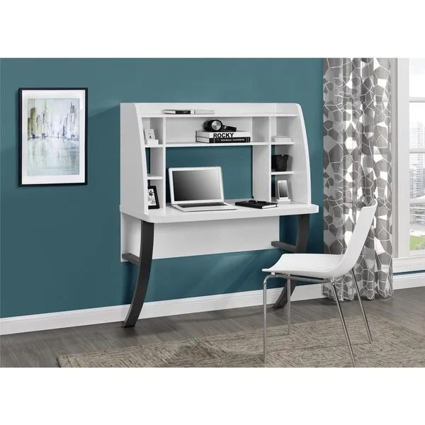 Shop Ameriwood Home Eden White Wallmounted Desk  Free