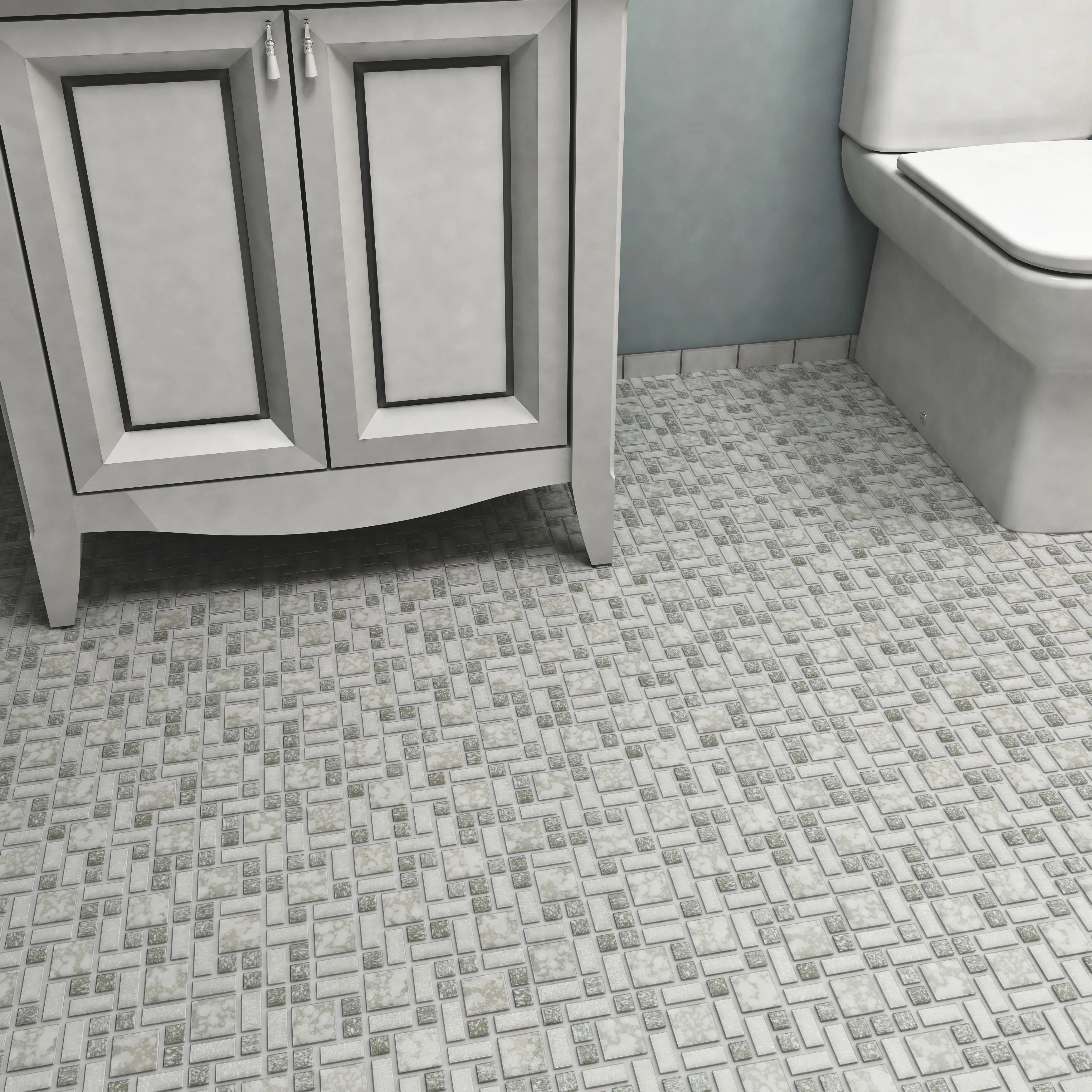 somertile 11 75x11 75 inch collegiate grey porcelain mosaic floor and wall tile
