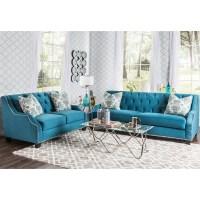 Furniture of America Elsira Premium Velvet 2-piece ...